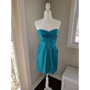 Teeze Me Turquoise Strapless Dress